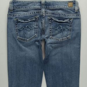 GUESS Daredevil Flare Jeans Womens 27 Stretch B581